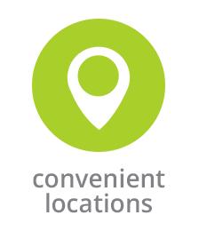 Convenient Locations